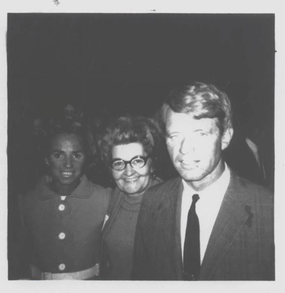 Mo with Robert F. Kennedy campaigns for president in 1968.